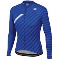 Sportful BodyFit Team Winter Jersey - XXL - Blue Cosmic/Blue/White