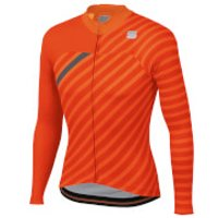 Sportful BodyFit Team Winter Jersey - XL - Orange SDR/Fire Red/Antharcite