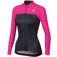 Image of Sportful Women's BodyFit Pro Thermal Jersey - L - Anthracite/Bubble Gum