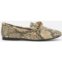 Kurt Geiger London Women's Chelsea Snake Print Loafers - Black/Grey - UK 3