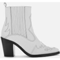 Kurt Geiger London Women's Damen Leather Western Style Boots - White - UK 3