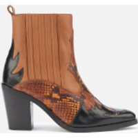 Kurt Geiger London Kurt Geiger London Women's Damen Leather Western Style Boots - Tan Comb - UK 6