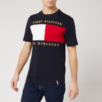 Tommy Hilfiger Men's Flag Embroidered Relax Fit T-Shirt - Desert Sky - L