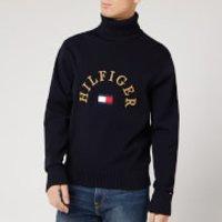 Tommy Hilfiger Men's Flag Logo Roll Neck Sweatshirt - Desert Sky - XL