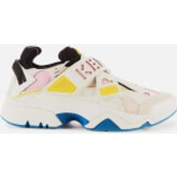 KENZO Women's Sonic Scratch Running Style Trainers - White - UK 6.5