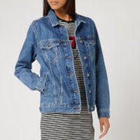 Superdry Women's 90s Oversized Denim Jacket - Denim Indigo Light Mid - UK 10