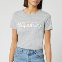 Superdry Women's Classic Rainbow Short Sleeve T-Shirt - Grey Marl - UK 12