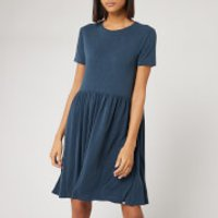 Superdry Women's Smocked T-Shirt Dress - Beechwater Blue - UK 8