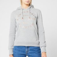Superdry Women's Nyc Studio Foil Hoodie - Grey Marl - UK 8