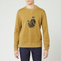 Lanvin Men's Mother & Daughter Print Sweatshirt - Mustard - M