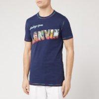 Lanvin Men's Print Short Sleeve T-Shirt - Navy - L