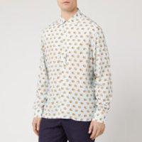 Lanvin Men's Long Sleeve Bowling Shirt - Lanvin Blue - 39cm/M