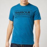 Barbour International Men's Essential Large Logo T-Shirt - Aqua/Black - XXL
