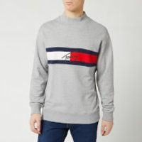 Tommy Jeans Men's Jacquard Flag Logo Sweatshirt - Light Grey Heather - M