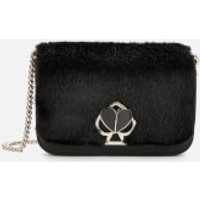 Kate Spade New York Women's Nicola Faux Fur Twistlock Chain Wallet - Black