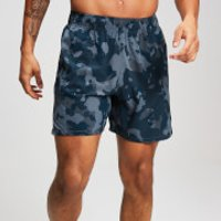 MP Training Men's Stretch Woven Shorts - Washed Blue-Camo - L