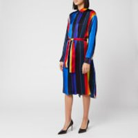 PS Paul Smith Women's Stripe Belted Dress - Multi - IT 40/UK 8