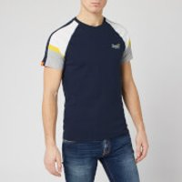 Superdry Men's Orange Label Crafted Casual Baseball Top - Darkest Navy - M