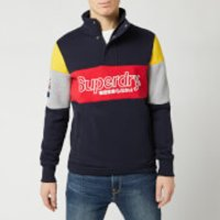 Superdry Men's Colour Block Half Zip Track Top - Darkest Navy - S