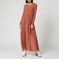 Free People Women's Hello and Goodbye Midi Dress - Brown - M