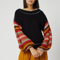 Free People Women's Cha Cha Sweatshirt - Black - L