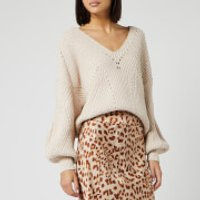 Free People Women's All Day Long V Neck Jumper - Sand - M