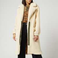 Free People Women's Tessa Teddy Coat - Cream - L