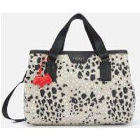 shop for Radley Women's Leopard Oilskin Medium Ziptop Grab Multiway Bag - Aluminium at Shopo
