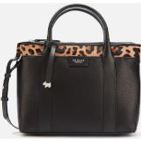 Radley Womens Maples Place Faux Leopard Medium Ziptop Multiway Bag - Black