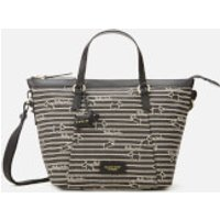 Radley Women's Radley Stripe Oilskin Medium Ziptop Multiway Bag - Black