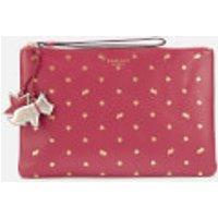 shop for Radley Women's Regents Row Medium Zip Top Clutch Bag - Raspberry at Shopo