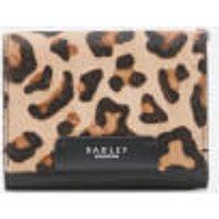 Radley Women's Arlington Court - Faux Leopard Medium Flapover Purse - Black