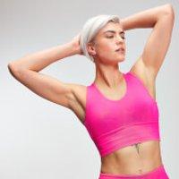 MP Power Women's Longline Sports Bra - Super Pink - M
