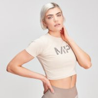 MP Animal Snake Seamless Women's Cropped T-Shirt - Desert - L