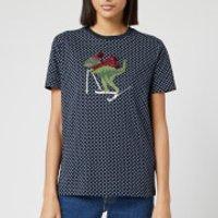Coach 1941 Women's Ski Rexy Dot T-Shirt - Blue - S