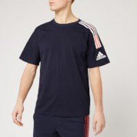adidas Men's Z.N.E. 3 Stripe Short Sleeve T-Shirt - Legend Ink - L