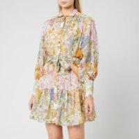 Zimmermann Women's Super Eight Lantern Mini Dress - Mixed Floral - 1/UK 10