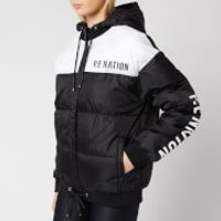 P.E Nation Womens Lead Right Puffer Jacket - Black - M