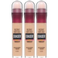 Maybelline Instant Anti-Age Eraser Eye Concealer 3 Pack Exclusive (Worth PS26.97)