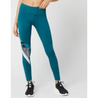 Reebok Women's Myt All Over Print Tights - Heritage Teal - S