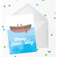 Happy Canoe-dling Greetings Card - Giant Card