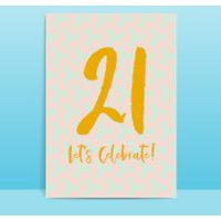 21 Let's Celebrate Greetings Card - Large Card