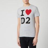 Dsquared2 Men's Heart T-Shirt - Grey Melange - S