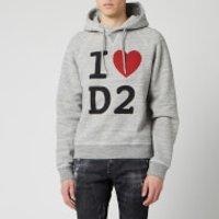 Dsquared2 Men's Heart Logo Hoody - Grey Melange - XL