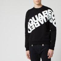 Dsquared2 Men's Angled Mirror Logo Sweatshirt - Black - XXL