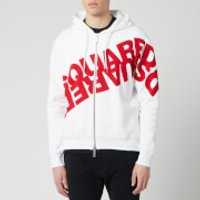 Dsquared2 Men's Angled Mirror Logo Hoody - White/Red - XL
