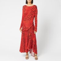 Preen By Thornton Bregazzi Women's Naima Dress - Red Serpent Skin - M