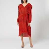 Preen By Thornton Bregazzi Women's Dotted Jacquard Eve Dress - Red Dragon Scale - M