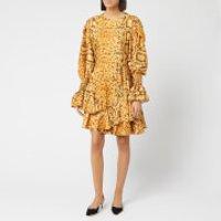 Preen By Thornton Bregazzi Women's Floral Jacquard Lupita Dress - Natural Serpent Skin - S