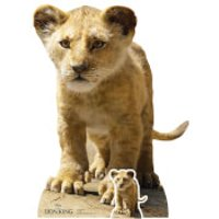 Young Simba (Lion King Live Action) Mini Cardboard Cut-Out - Lion King Gifts